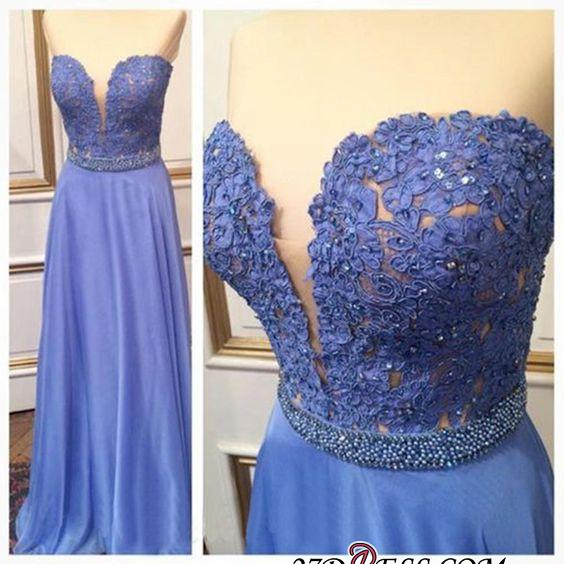 2020 Floor-Length Cheap Sweetheart Crystal Lace A-Line Prom Dresses