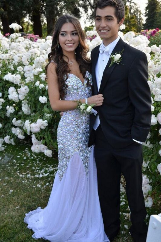 Glamorous Sweetheart Beadings Prom Dresses 2020 Long Chiffon Party Gown
