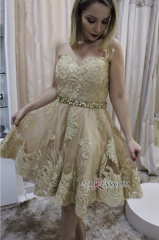 Lace homecoming dress, short prom dress on sale