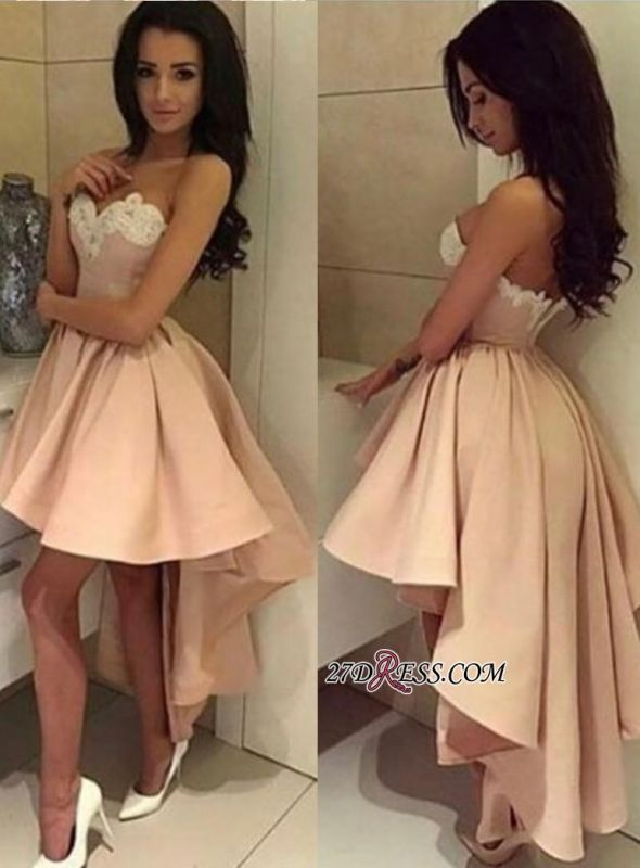 Ball-Gown Lace High-low Sweetheart Modern Cocktail Dress LPL104