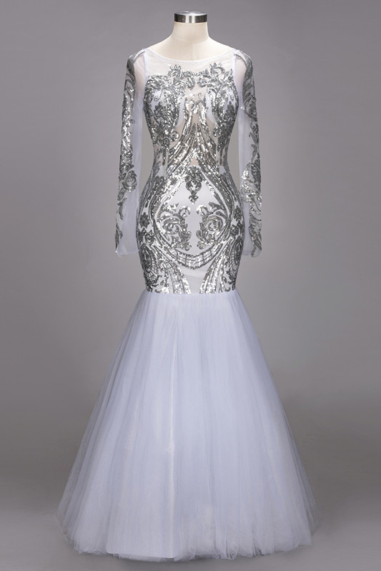 Long Sleeve 2020 Prom Dress | Sequins Evening Gown On Sale