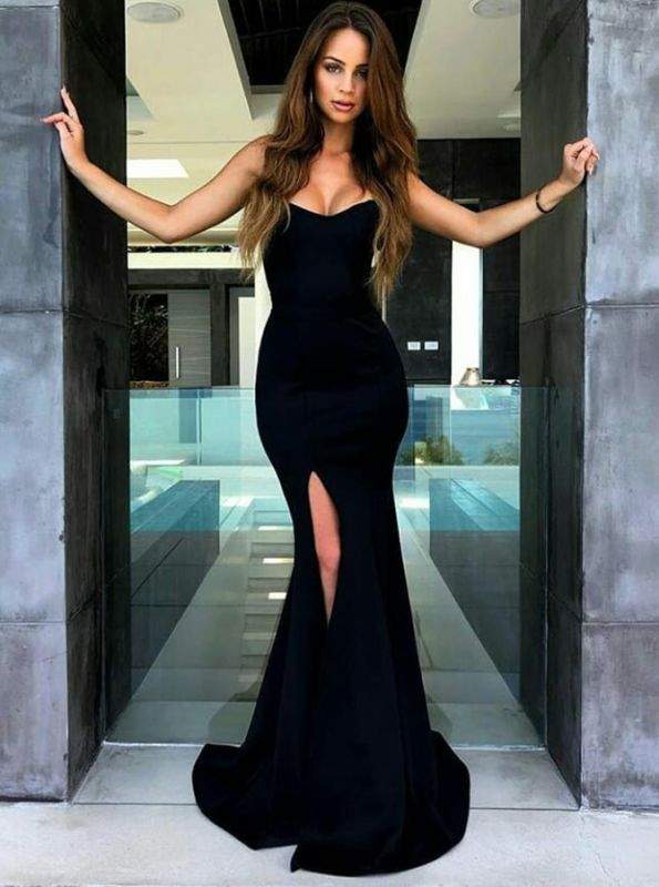 Sexy Mermaid Evening Dress | 2020 Slit Prom Dress On Sale