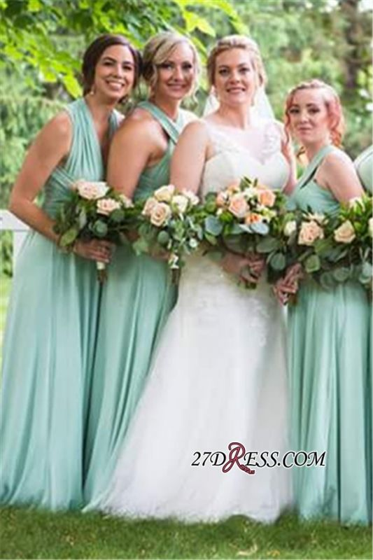 Convertible Lightsome Floor-Length A-line Bridesmaid Dresses