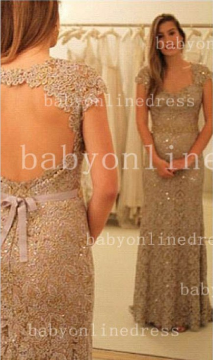 Sheath Backless Vestidos Formal Prom Dress One Shoulder Waistband Lace Prom Gowns With Sequined Beading_Prom Dresses_Prom & Evening_High Quali