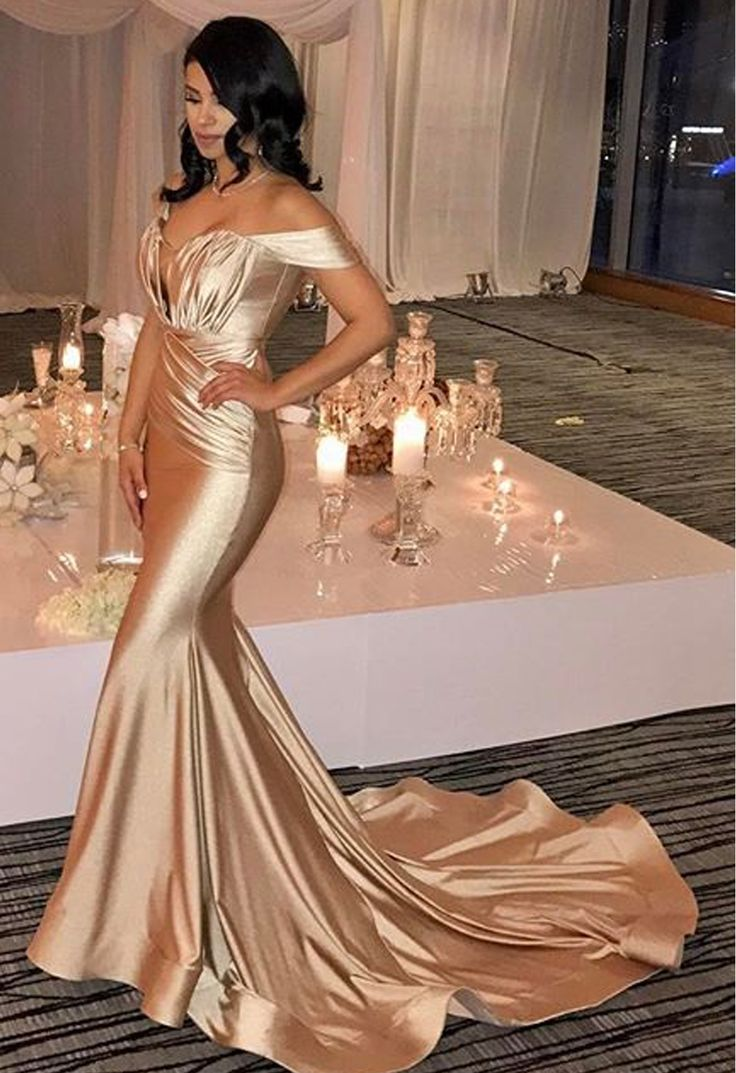 Off-the-Shoulder Mermaid Prom Dress | 2021 Formal Wear On Sale_Prom Dresses_Prom & Evening_High Quality Wedding Dresses, Prom Dresses, Evening