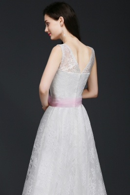 Elegant Sleveless A-line Simple Wedding Dress Party Dress With Bowknot_5