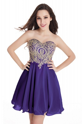 Cheap Short 2020 Mini Sweetheart Appliques Homecoming Dresses_5