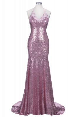 Glamorous Sequins V-Neck Prom Dresses 2020 Mermaid Spaghetti Straps Party Gowns_1