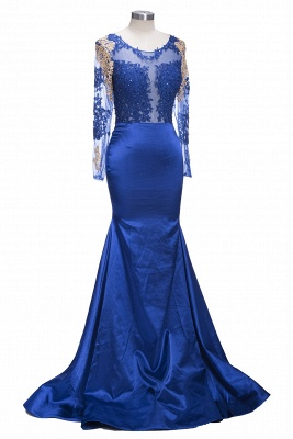 Long sleeve prom dress, 2020 mermaid evening gowns_1