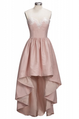 Ball-Gown Lace High-low Sweetheart Modern Cocktail Dress LPL104_1