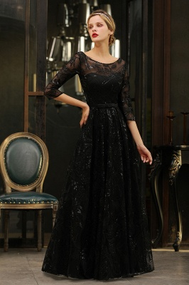 Women's Floral Lace Tulle Mesh Illusion Crewneck Evening Formal Prom Gown for Wedding Party_16