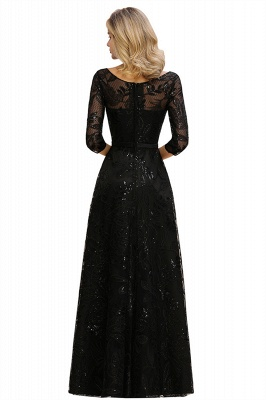 Women's Floral Lace Tulle Mesh Illusion Crewneck Evening Formal Prom Gown for Wedding Party_15