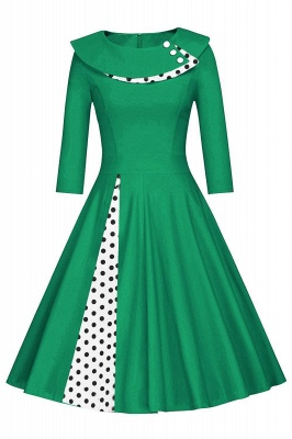 Vintage 1950's Rockabilly Swing Evening Formal Cocktail Party Dress_5