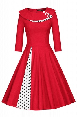 Vintage 1950's Rockabilly Swing Evening Formal Cocktail Party Dress_2