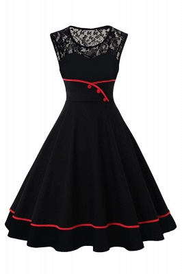 50's Vintage Rockabilly Dress Cute Sleeveless Polka Dot Party Dress Gift