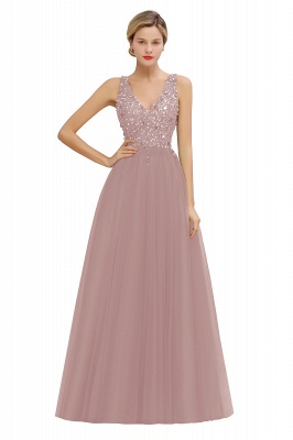 Spark Beading Sequins Bodice Evening Maxi Dress Tulle  Gown_1