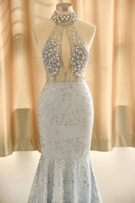 Elegant Halter Mermaid Prom Dresses | 2020 Backless Sequins Evening Gowns BC0679_3