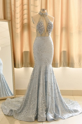 Elegant Halter Mermaid Prom Dresses | 2020 Backless Sequins Evening Gowns BC0679_1