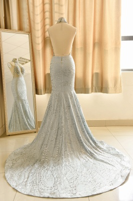 Elegant Halter Mermaid Prom Dresses | 2020 Backless Sequins Evening Gowns BC0679_2