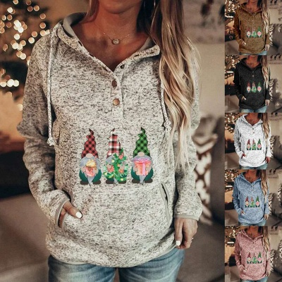 Christmas villain Hoodies for Women Casual Sweatshirts Long Sleeve