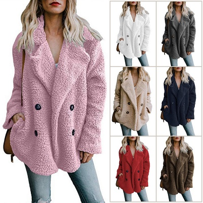 2020 Winter Coats Plus Size Long Sleeve Fluffy Fur Jackets Women Warm Winter Jacket_5