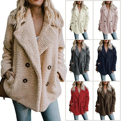 2020 Winter Coats Plus Size Long Sleeve Fluffy Fur Jackets Women Warm Winter Jacket_2