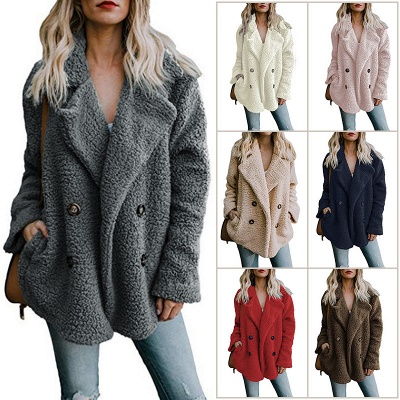 2020 Winter Coats Plus Size Long Sleeve Fluffy Fur Jackets Women Warm Winter Jacket_1