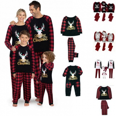 Christmas Sweaters Homewear Sleepsear Mom Dad Outfits Cartoon Print Xmas Gifts