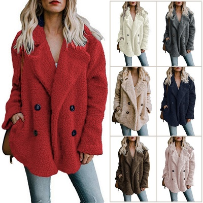 2020 Winter Coats Plus Size Long Sleeve Fluffy Fur Jackets Women Warm Winter Jacket_4