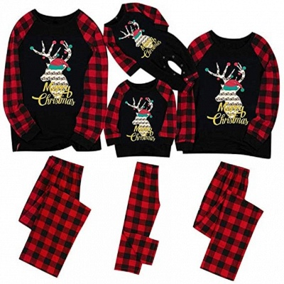 Family Christmas Pajamas Set | Cartoon Print Me Outfits Family Clothes Xmas Gifts_5