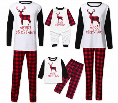 Family Christmas Pajamas Set | Cartoon Print Me Outfits Family Clothes Xmas Gifts_7
