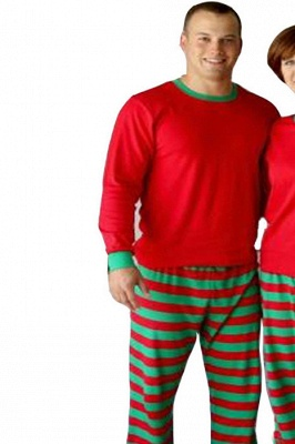 Family Christmas Outfits Pajamas Set stripe|Family Matching Clothes Xmas Gifts | Family Sleepwear 2PCS_4