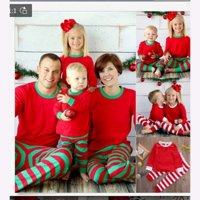 Family Christmas Outfits Pajamas Set stripe|Family Matching Clothes Xmas Gifts | Family Sleepwear 2PCS_15