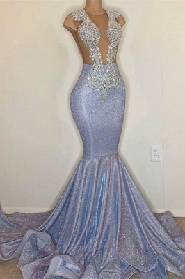 Sexy Mermaid Prom Dress Sparkly Appliques Party Dress