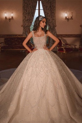 Stylish A-line Bridal Gown Sleeveless Princess Ball Gown