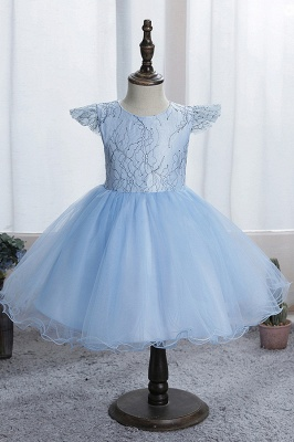 Cap Sleeve Tulle Girls Dress Flower Dress for Kids