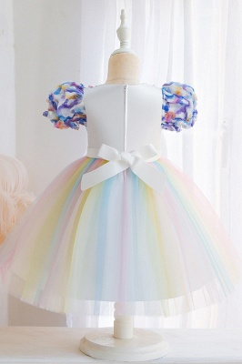 Cap Sleeves Colorful boutique flower girl dresses_5