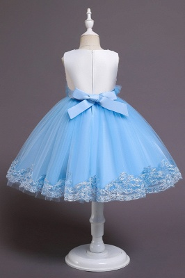 Beautiful Sky Blue and Pink Bridal Flower Girl Dresses_6