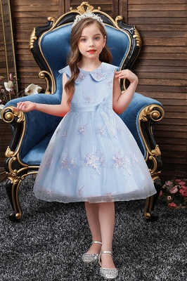 beautiful flower girl dresses Sky Blue cute flower girl