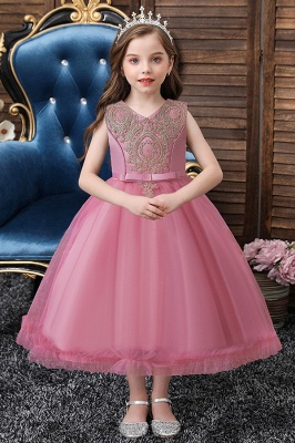 Flower Girl Dress with Sash Dusty Pink Little Girl Dresses for Wedding
