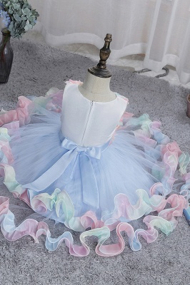 Sleeveless Floral Cute Girl Dresses for Party Wedding_6