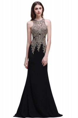 Elegant Sleeveless Mermaid Evening Dress   2020 Prom Gown With Lace Appliques_4