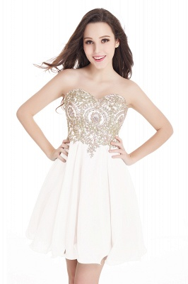 Cheap Short 2020 Mini Sweetheart Appliques Homecoming Dresses_1