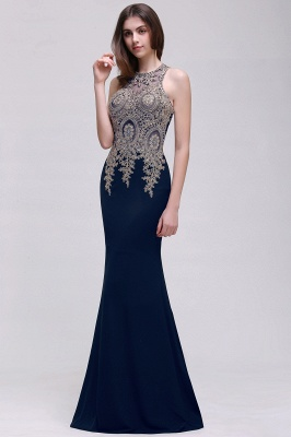Elegant Sleeveless Mermaid Evening Dress | 2020 Prom Gown With Lace Appliques_3