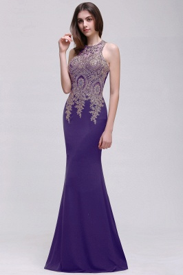 Elegant Sleeveless Mermaid Evening Dress | 2020 Prom Gown With Lace Appliques_2