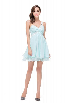 Elegant One Shoulder Chiffon Short Homecoming Dress_1
