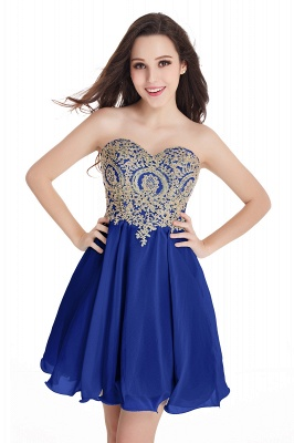 Cheap Short 2020 Mini Sweetheart Appliques Homecoming Dresses_7