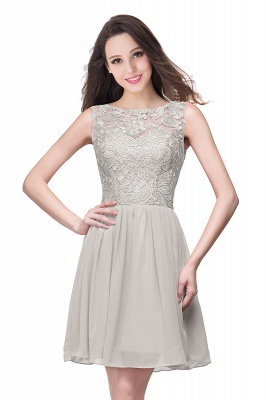 Lovely Illusion Sleeveless Chiffon Short Cocktail Dress With Lace_9