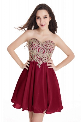 Cheap Short 2020 Mini Sweetheart Appliques Homecoming Dresses_3