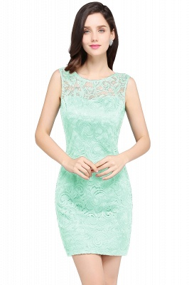 Back-Zipper Sheath-Column Lace Short-Mini Scoop-neckline Cocktail Dress_4